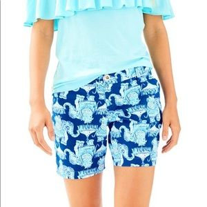 "Lily Pulitzer 10 The Jayne stretch short 7"" inseam"
